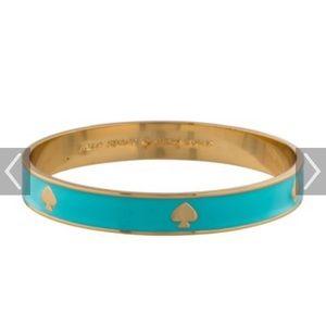 Kate Spade enamel bangle bracelet- aqua color